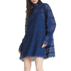 Free People Dress Mock Neck Lace
